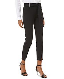 Split-Hem Side-Tie Pants