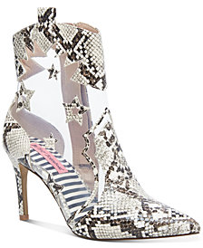 Betsey Johnson Lunas Lucite Booties