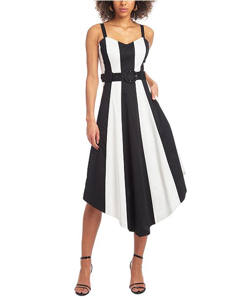 Christian Siriano New York Colorblocked Fit & Flare Dress