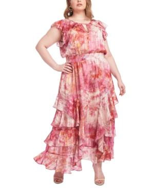 Rachel Rachel Roy PLUS SIZE TIE-DYED MAXI DRESS
