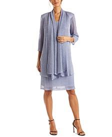 Petite Crinkle-Knit Dress & Jacket