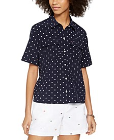 Dotted Boxy Top