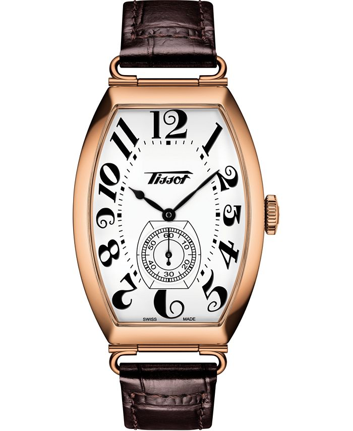 Tissot - Unisex Swiss Automatic Heritage Porto Brown Leather Strap Watch 42mm