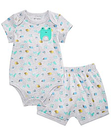 Baby Boys Frog Printed Bodysuit & Bloomer Shorts Separates, Created for Macy's
