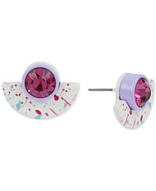 Multicolor Splatter Stone Stud Earrings