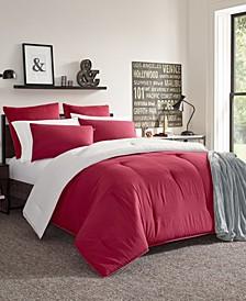 Solid Reversible Full/Queen Comforter Set