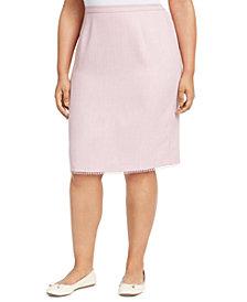 Alfred Dunner Plus Size Primrose Garden Lace-Trim Skirt