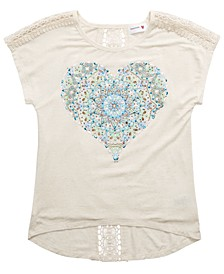 Big Girls Lace-Back Heart T-Shirt