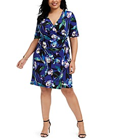 Plus Size Jersey Wrap Dress