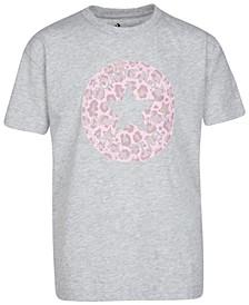 Big Girls Cotton Leopard Patch T-Shirt