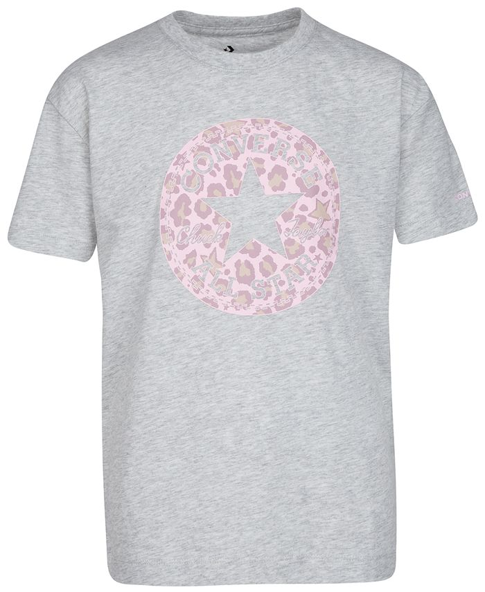 Converse - Big Girls Cotton Leopard Patch T-Shirt