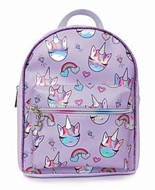 Toddler, Little and Big Kids Miss Gwen Rainbows Hologram Printed Mini Backpack