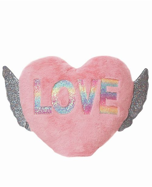 OMG! Accessories Toddler, Little and Big Kids Love Winged Heart Pillow