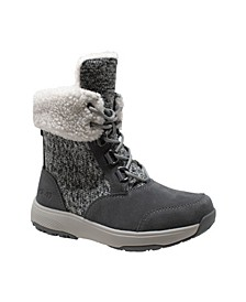 Womens Microfleece Lace Winter Boot