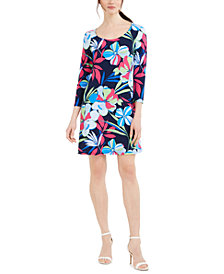 Pappagallo Erin Floral-Print Sheath Dress