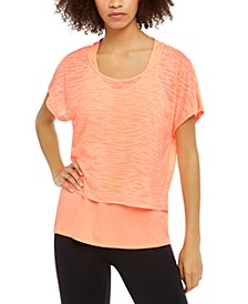 Printed Burnout Layered T-Shirt, Created For Macy's