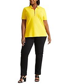 Plus-Size Piqué Polo Shirt