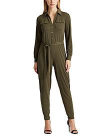Lauren Ralph Lauren Petite Utilitarian-Style Jumpsuit