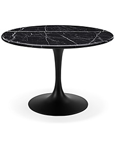 Colfax Black Marble Table