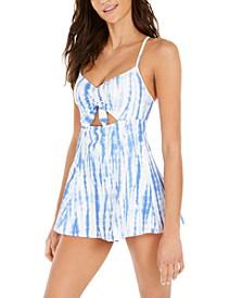 Tie-Dye Cutout Swim Dress