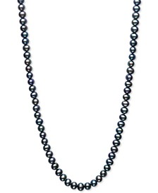 """Dyed Black Cultured Freshwater Pearl (5mm) 100"""" Endless Strand Necklace"""