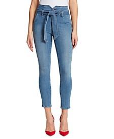 Jackie Tie-Belt Skinny Jeans