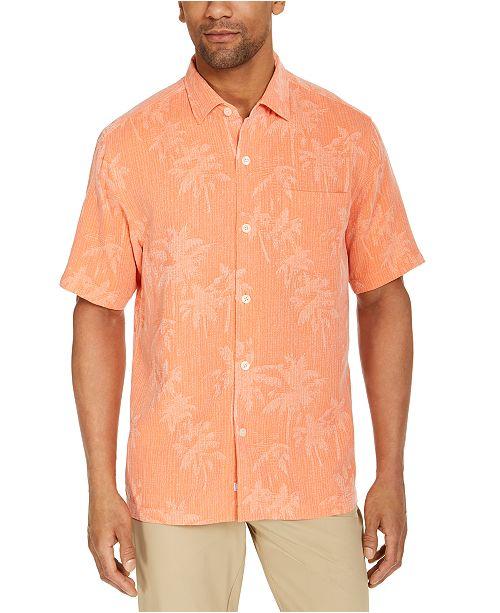 Tommy Bahama Men's Digital Palms Silk Short Sleeve Camp Shirt