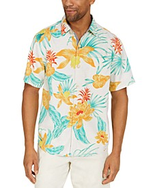 Men's Mahala Blooms IslandZone® Classic-Fit Tropical Print Camp Shirt