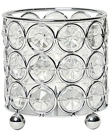 Elipse Crystal Decorative Flower Vase, Candle Holder, Wedding Centerpiece