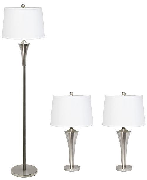 Tapered 3 Pack Lamp Set 2 Table Lamps
