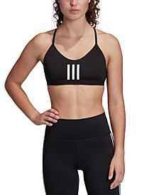 Women's All Me 3 Stripe Mesh Low-Impact Sports Bra