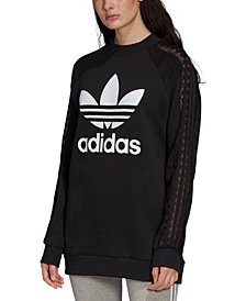 adidas Originals Women's Cotton Lace-Trimmed Logo Sweatshirt