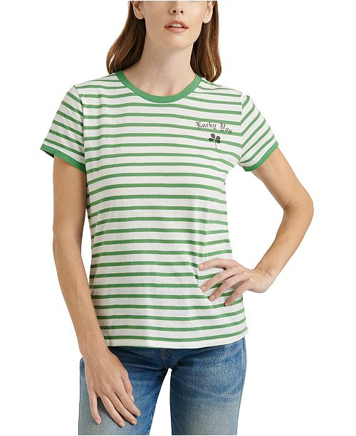 Lucky Brand Lucky You Striped T-Shirt