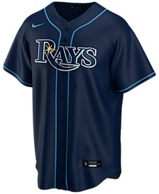 Men's Tampa Bay Rays Official Blank Replica Jersey