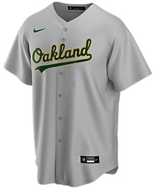 Men's Oakland Athletics Official Blank Replica Jersey