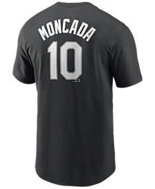 Men's Yoan Moncada Chicago White Sox Name and Number Player T-Shirt