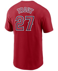 Men's Mike Trout Los Angeles Angels Name and Number Player T-Shirt