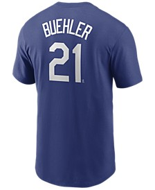 Men's Walker Buehler Los Angeles Dodgers Name and Number Player T-Shirt