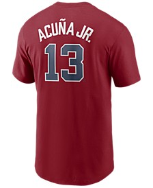 Men's Ronald Acuna Atlanta Braves Name and Number Player T-Shirt