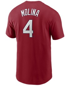 Men's Yadier Molina St. Louis Cardinals Name and Number Player T-Shirt