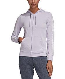 adidas Women's Block Logo Zip Hoodie