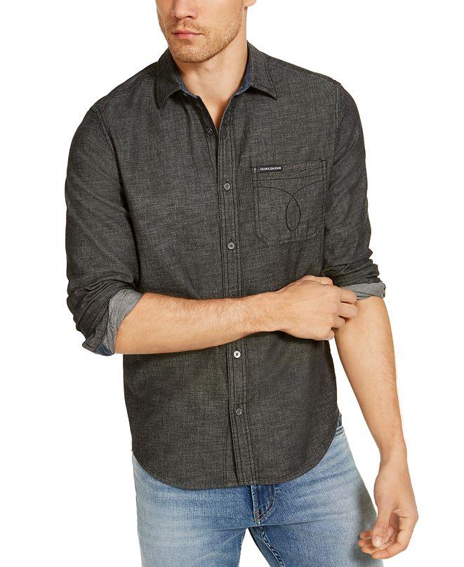 Calvin Klein Jeans Calvin Klein Men's Long Sleeve Chambray Omega Shirt