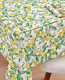"""CLOSEOUT! Limoncello Garden 60"""" x 84"""" Tablecloth"""