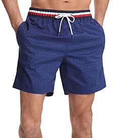 Men's Corey Geo Swim Trunks, Created for Macy's