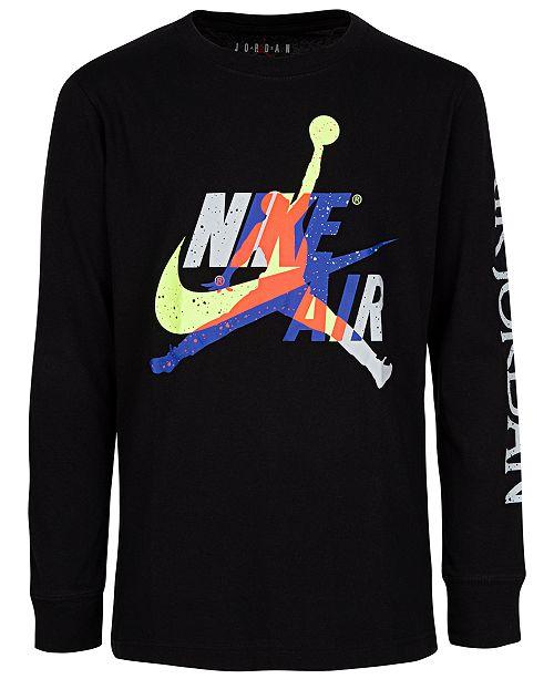 Jordan Big Boys Cotton Jumpman Classics Long-Sleeve T-Shirt