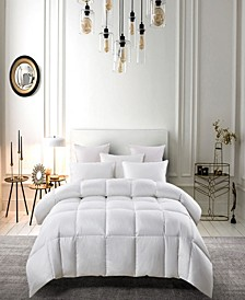 All Season White Down Fiber Comforter Twin