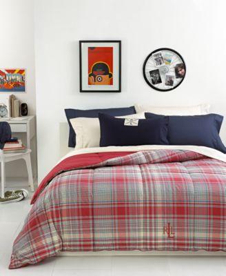 Lauren Ralph Lauren Nantucket Embroidered Logo Down Alternative Comforters    Comforters: Down U0026 Alternative   Bed U0026 Bath   Macyu0027s