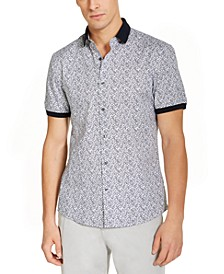 Men's Slim-Fit Stretch Print Short Sleeve Shirt