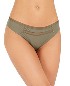 Invisibles Mesh-Trim Thong Underwear QD3692