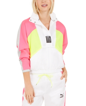 80s Windbreakers, Jackets, Coats Puma Womens Retro Colorblocked Track Jacket $85.00 AT vintagedancer.com